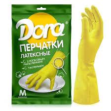 <b>Перчатки латексные Dora</b> универсальные с хлопковым ...