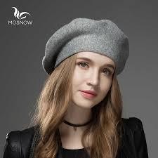 Women <b>Beret</b> Vogue <b>Hat</b> For Winter Female Knitted <b>Cotton</b> Wool ...