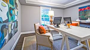 view in gallery elegant home office with colorful art work on the walls art for home office