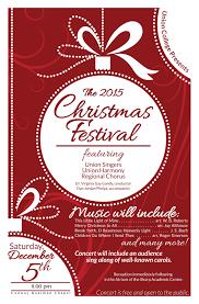 union presents annual christmas festival concert  christmas flyer
