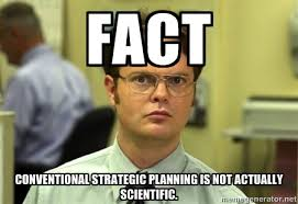 Fact Conventional strategic planning is not actually scientific ... via Relatably.com