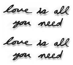 "<b>Надпись</b> настенная Umbra ""<b>Love is</b> all you need"", металлическая ..."