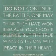 Finding Peace Quotes on Pinterest | World Peace Quotes, Inner ... via Relatably.com