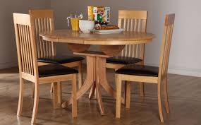 cream compact extending dining table: hudson round extending dining table and  oxford chairs set