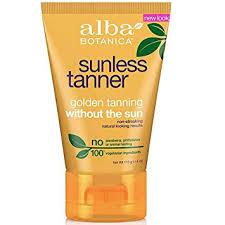 Alba Botanica: Very Emollient <b>Sunless Tanner</b>, Golden Tanning <b>4 oz</b>
