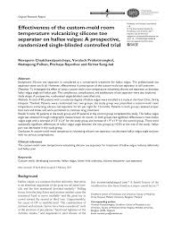 (PDF) Effectiveness of the custom-mold room temperature ...
