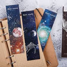 <b>30pcs</b>/lot Roaming space <b>Paper</b> bookmarks stationery book holder ...