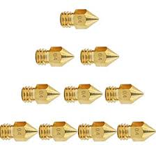 10pcs <b>3D</b> Printer Nozzle 0.4mm Brass Extruder Nozzle Print Heads ...