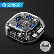 <b>ORICO</b> HUB USB <b>4 /7 Ports</b> USB3.0 Transparent HUB Mini With ...