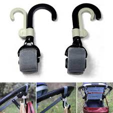 New <b>2Pcs</b>/<b>lot Baby Stroller Hook</b> Holder Pram Double Rotate Hook ...