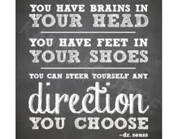 Image result for pinterest dr seuss you have brains in your head poem