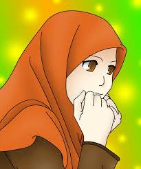 Hasil gambar untuk gambar animasi wanita muslimah mengetik