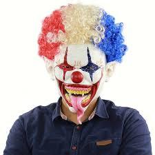 Horror Mask Scary <b>Clown Halloween</b> Full Face Mask Mischievous ...
