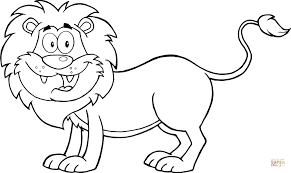 Small Picture Happy Lion coloring page Free Printable Coloring Pages