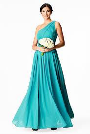 One-shoulder <b>ruched chiffon</b> maxi dress - Women's Clothing 0-36W ...