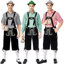 <b>Men's Oktoberfest</b> Lederhosen with Suspenders Hat Costumes <b>Set</b> ...