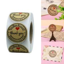 <b>1 Inch Round Natural</b> Kraft Baked With Love Stickers / 500 Labels ...