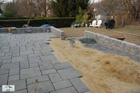 stone patio installation: terrace area in long island patio and terrace services