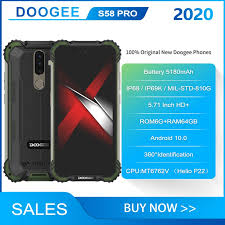 2020 <b>New</b> IP68 / IP69K / <b>Doogee S58</b> PRO SmartPhone 5.71 inch ...