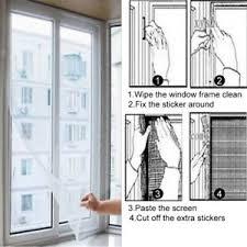 <b>Window</b> Screen Netting Mesh Curtain,59 x 51 <b>Self</b>-<b>Adhesive</b> ...
