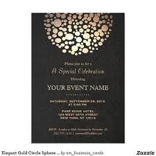 gala invitation minus chandelier design stationery elegant gold circle sphere black linen look formal 5x7 paper invitation festive yet sophisticated