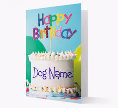 <b>Personalised Happy Birthday Cake</b> Card for your Dog | Yappy.com