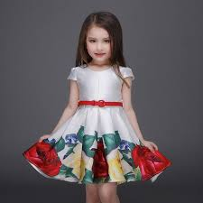 <b>Girl's</b> Dresses flower Printing <b>girl</b> Party princess <b>Child Summer</b> dress ...