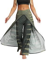 AMOMA <b>Women Wide Leg</b> Side Split Trousers <b>Summer</b> Casual ...