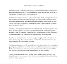 thank you letter to boss templates – free sample  example    free sample thank you letter to boss after resignation