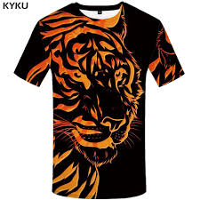<b>KYKU Brand Tiger</b> Shirt Black Clothing Animal T shirt 3d Print T Shirt ...
