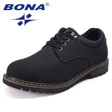 <b>BONA New Fashion Style</b> Men Casual Shoes Action Leather Men ...