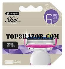 <b>Dorco Shai</b> Reina World's First Six Blades Razor System - <b>4</b> Refill ...