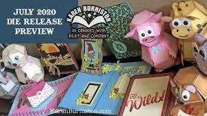 Karen Burniston July <b>2020 Die</b> Release Preview - YouTube