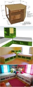 bedroom furniture diy kids storage sport how to diy corner unit for the twin storage bed furniture kids storage