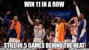 """NBA Memes on Twitter: """"Miami Heat vs. New York Knicks! #11InARow ... via Relatably.com"""