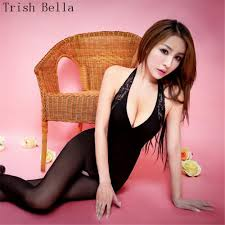 <b>Trish Bella 2018 Lace</b> Splicing Silk stockings transparent Pure color ...