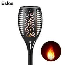 <b>Eslas 2Pcs Solar</b> Light Lawn Lamp 99 LED Flickering Flame Torch ...