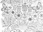 Цветочная поляна раскраска
