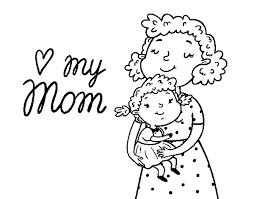 Small Picture I love my mom coloring page Coloringcrewcom