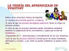 Teora sociocultural Vygotsky - SlideShare