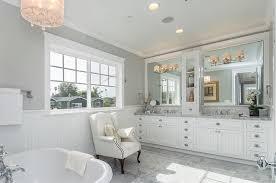 bubble chandelier in drum and vanity lighting in white marble master bathroom craftsman bathroom affordable bathroom lighting