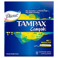 <b>Тампоны</b> с аппликатором `<b>TAMPAX</b>` <b>COMPAK</b> Regular Single 8 шт