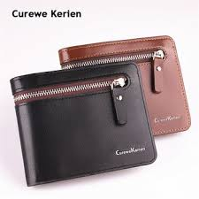 <b>Original</b> Curewe Kerien brand men's short zipper wallet <b>high quality</b> ...