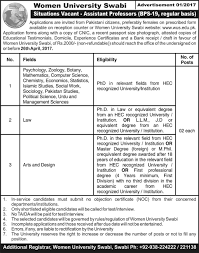 women university swabi jobs 2017 available for 16 teaching staff women university swabi jobs 2017 available for 16 teaching staff vacancies to be filled immediately required qualification from a recognized institution