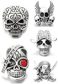 Amazon.com: Lovglisten New <b>5pcs</b> Rhinestone Skull 18mm <b>Snap</b> ...