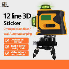 <b>Weilian</b> 3D 12 <b>Lines</b> Laser Level with Self Leveling 360 Horizontal ...