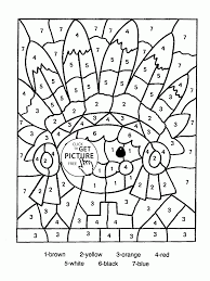 Small Picture Color by Number Indian coloring page for kids education coloring