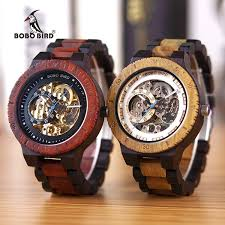 <b>BOBO BIRD Men's</b> Automatic Mechanical <b>Watch</b> Deluxe Wooden ...