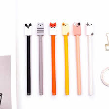 <b>6 pcs</b>/lot Cute fox <b>Cartoon animal</b> gel pens kawaii stationery caneta ...