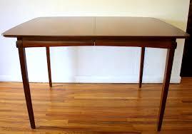 dining table leaf hardware: cute mid century modern dining tables hidden leaves picked vintage leaf mcm surfboard table
